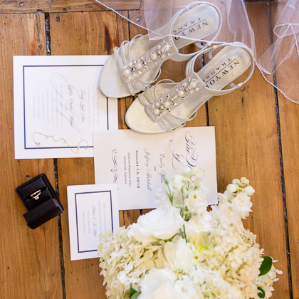 Jeff and Emily Mitchell Robert E. Lee Hotel invitation ring and flowers